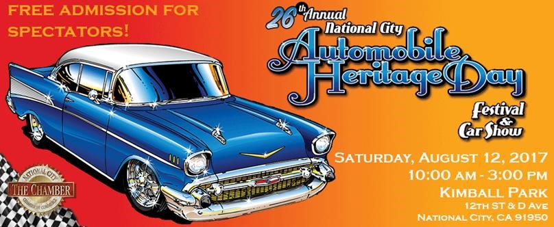 Automobile Heritage Day Event Calendar National City CA - Car show event calendar