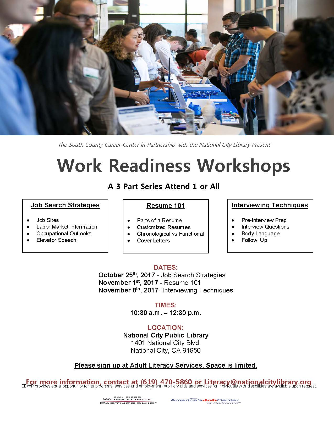 Work Readiness Flyer Fall 2017