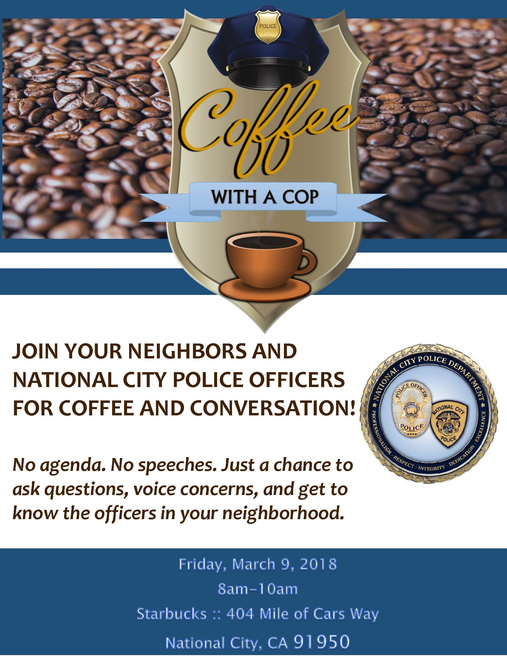 Coffee With A Cop- March 2018