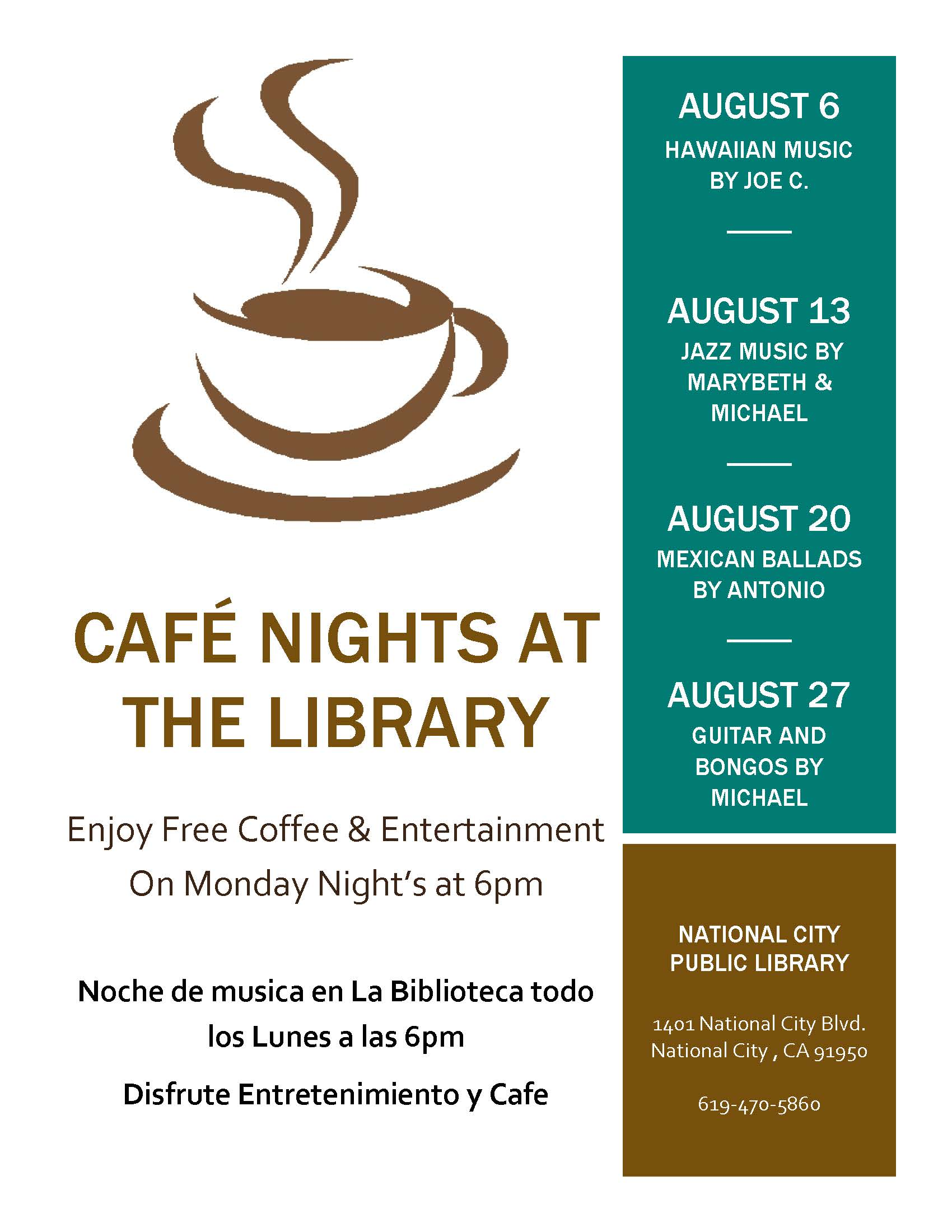 Café Night Flyer Aug 2018
