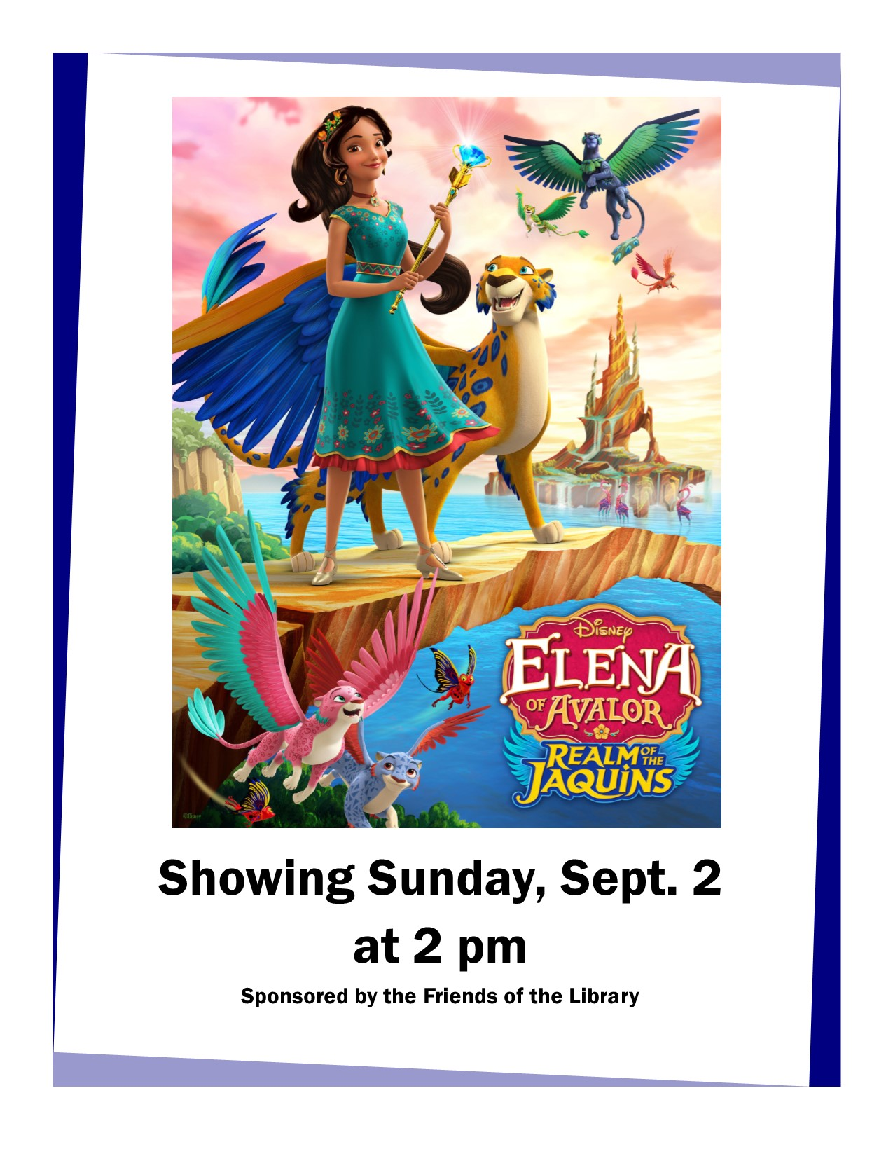Sunday Family Movie at the Library – Eleanor of Avalor-Realm