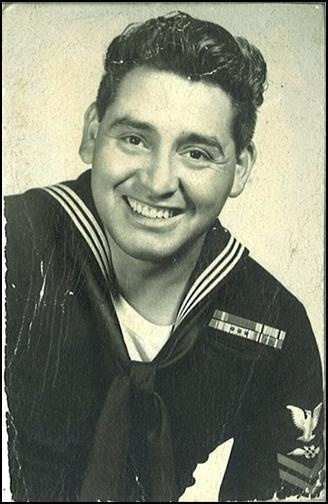 Louis G. Hernandez in Navy uniform
