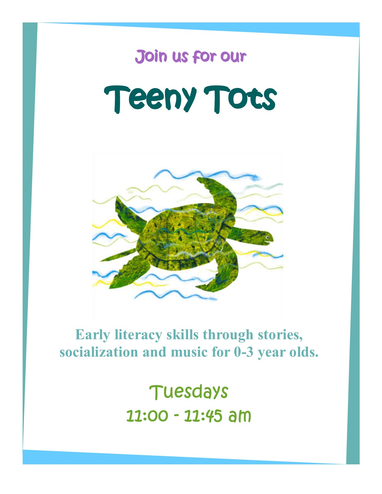 Teeny tots flyer (sea turtle)
