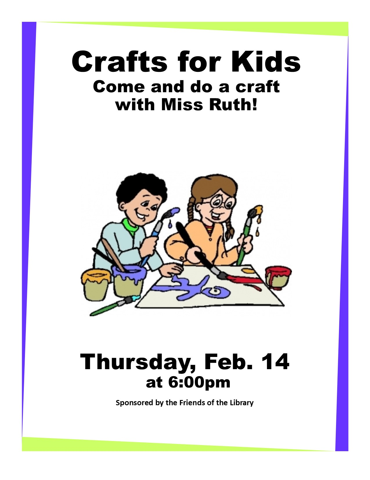 Craft Night flyer (5-18)