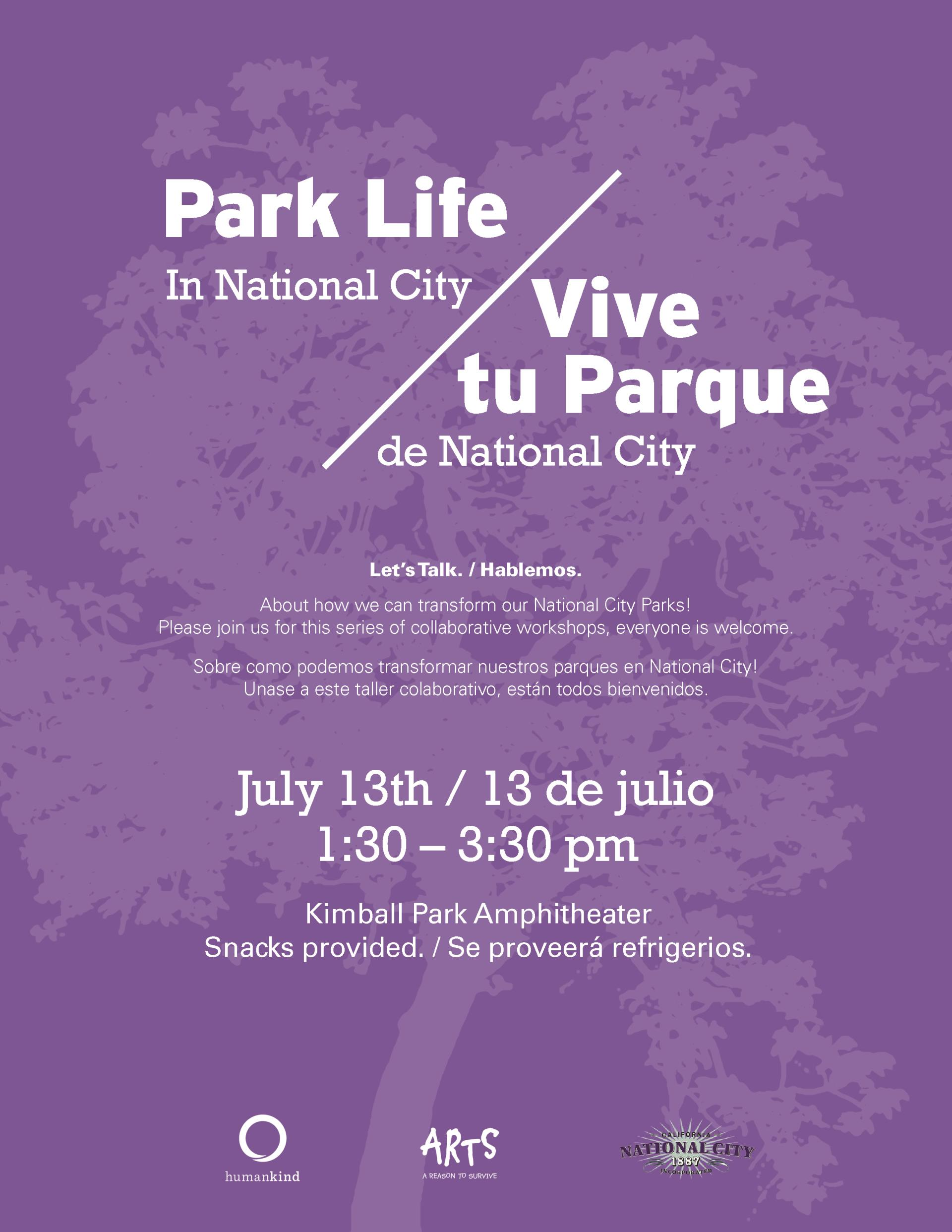 Park life event July 13