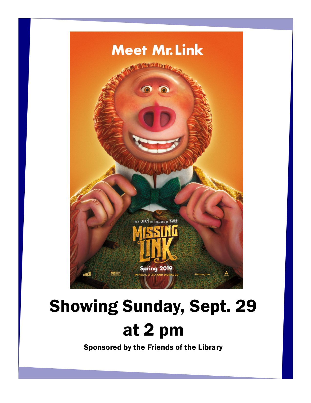 Family Movie - Missing Link | Calendar of Events | National