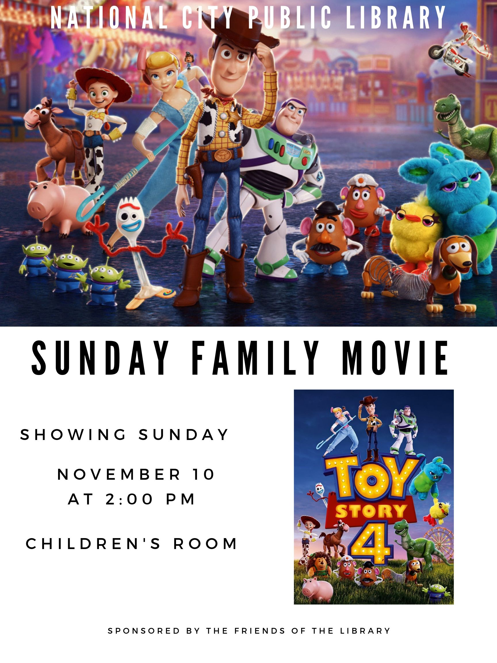 Family Movie Nov. 10 Toy Story 4