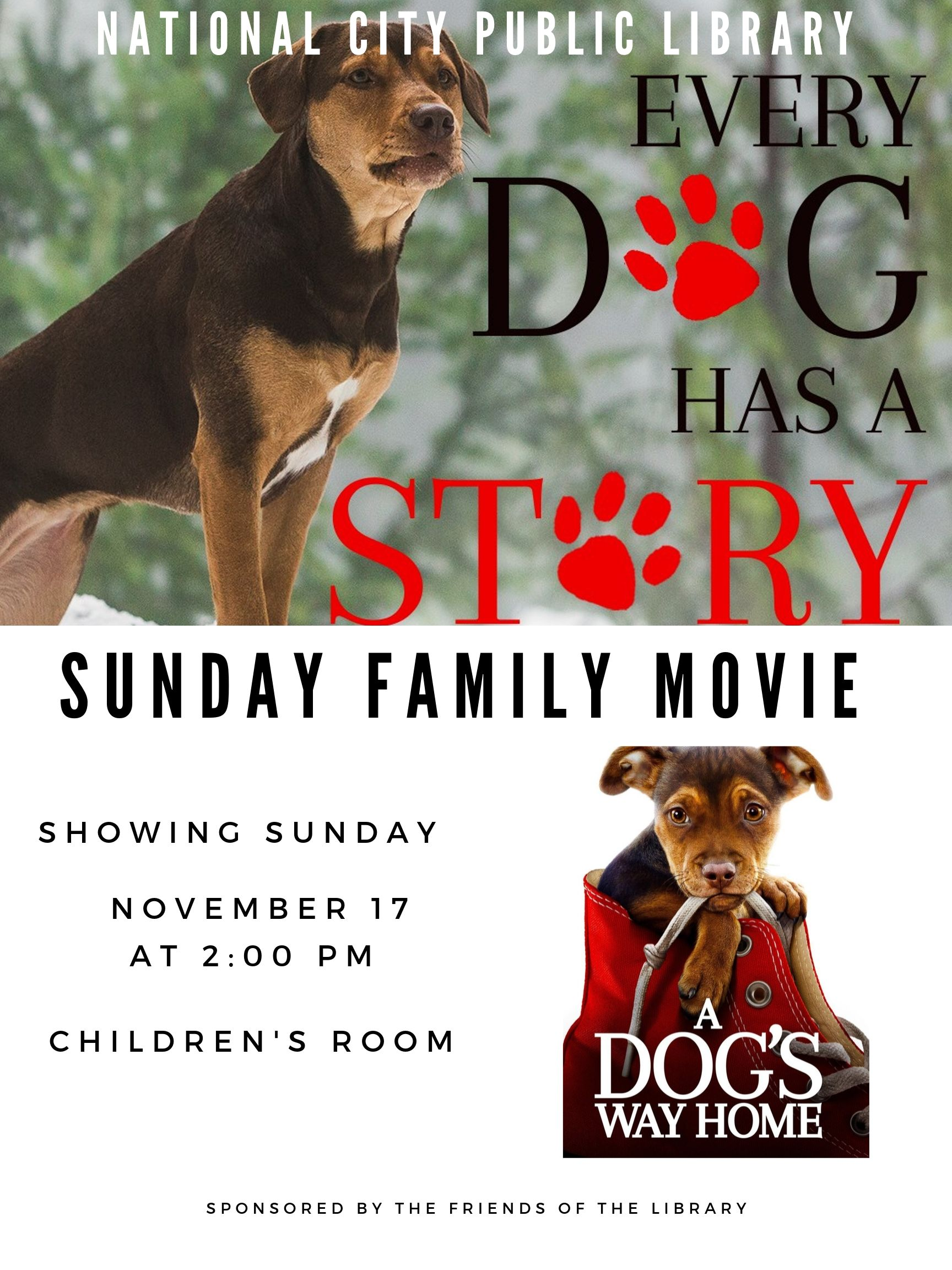 Family Movie Nov. 17 A Dog's Way Home