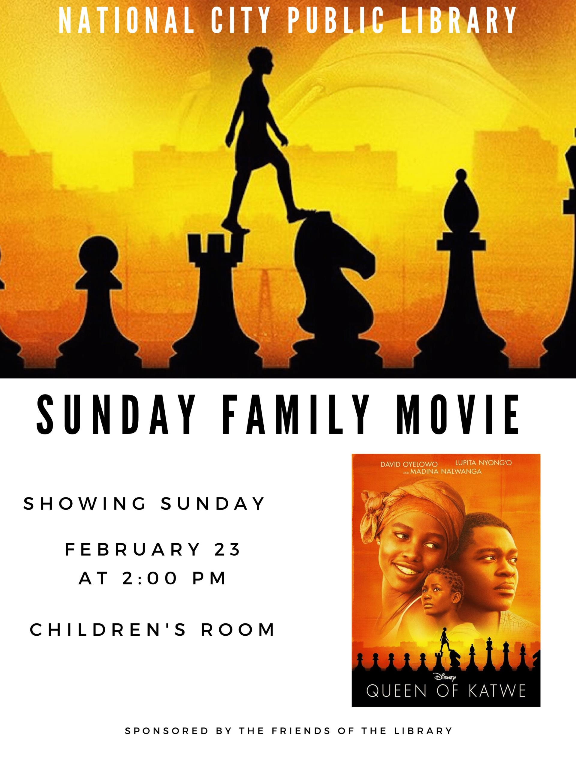 Feb 23 - Queen of Katwe