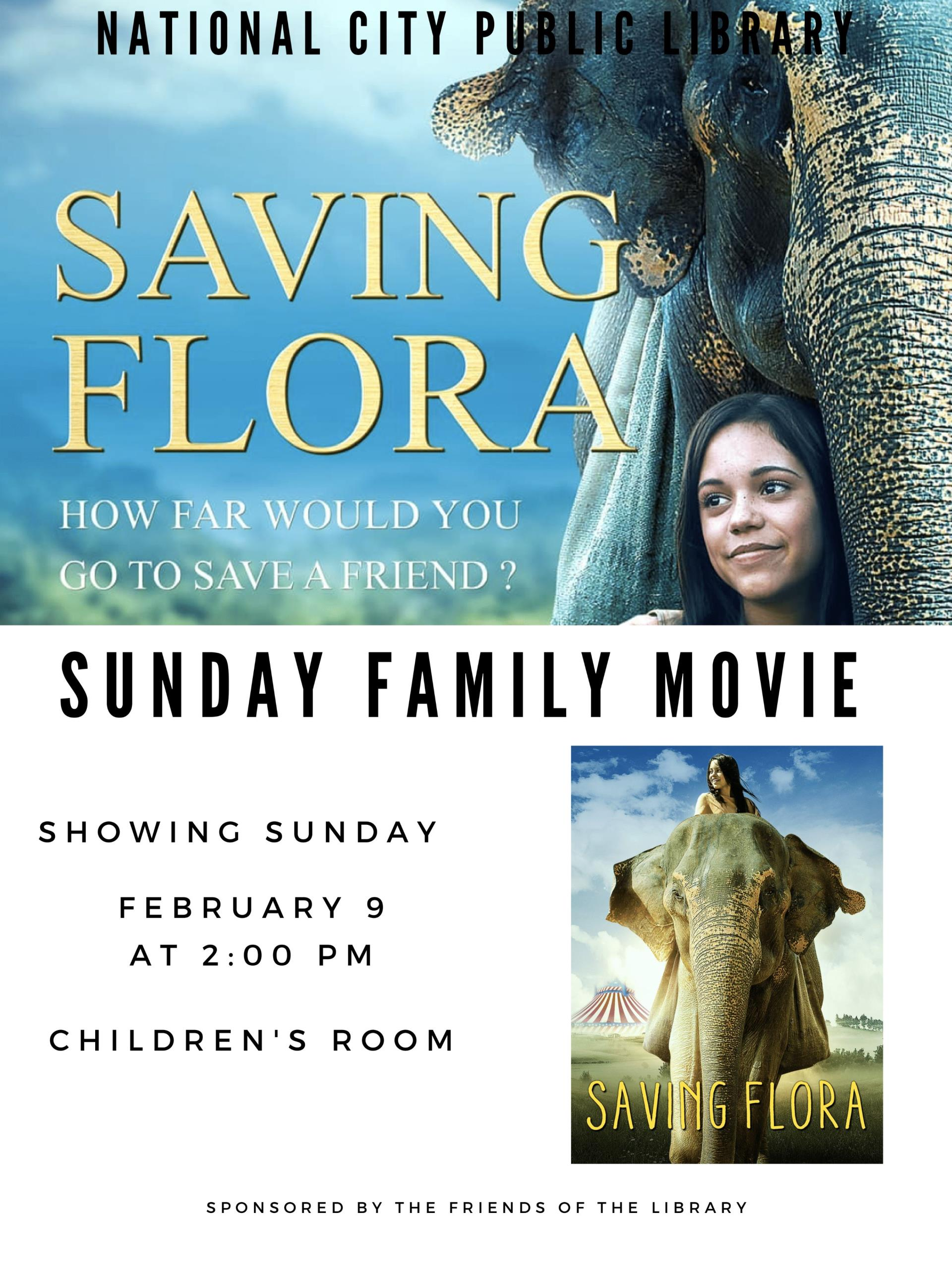 Feb 9 - Saving Flora