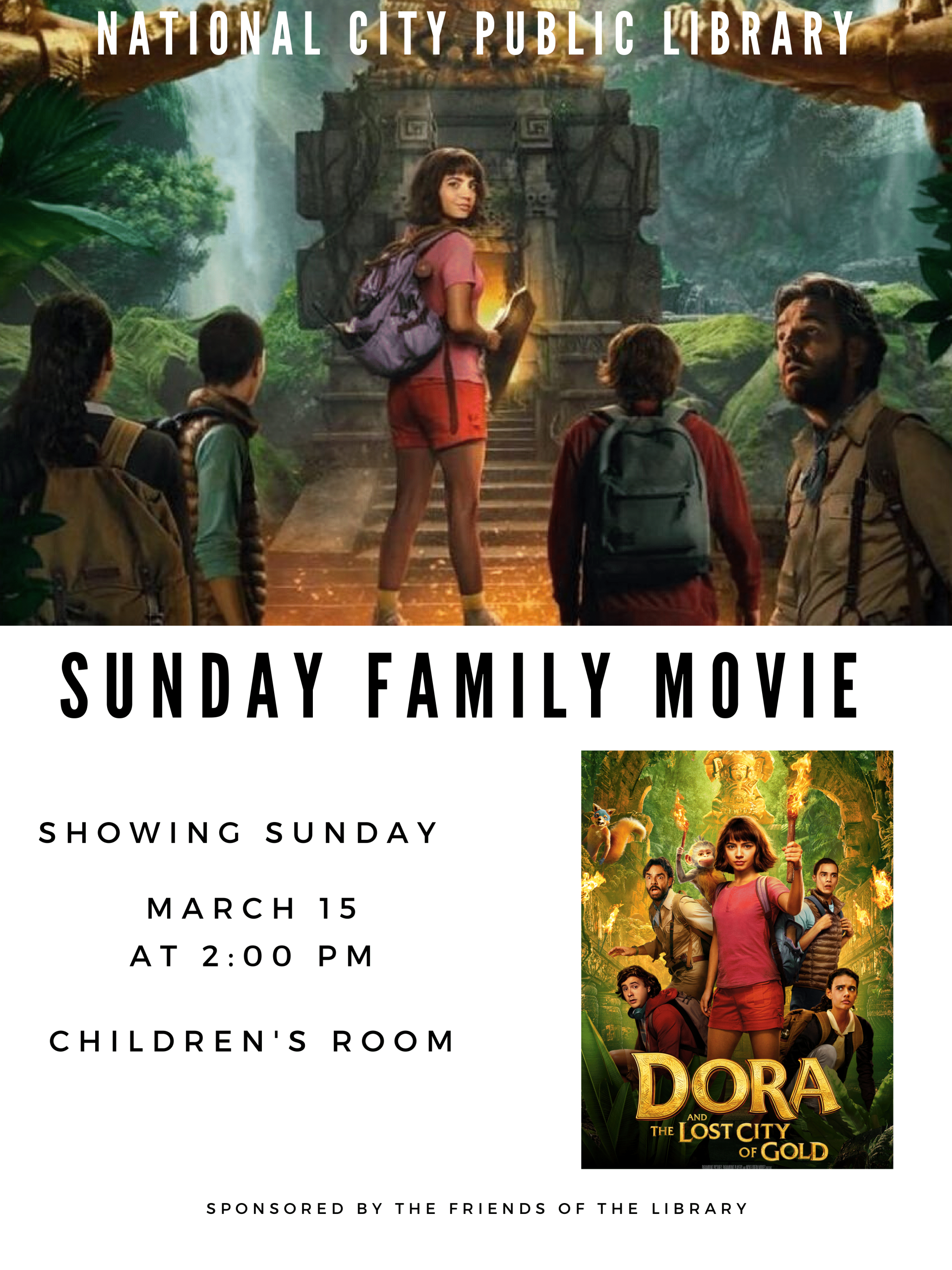 Dora and the Lost City of Gold March 15